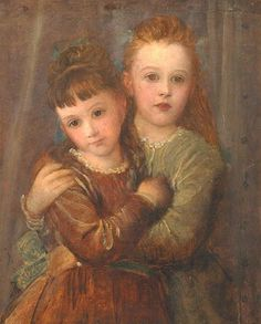 """Rachel and Laura Gurney,"" 1875 -- by George Frederick Watts (British, 1817–1904)"