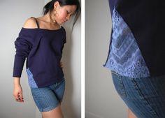 diy: Side Lace Sweatshirt