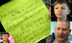 "When eight-year-old Myles Eckert found $20 in a Cracker Barrel parking lot he gave it to a soldier to thank him for his service. Myles (top right) was just five-weeks-old when his father, Army Sgt. Andy Eckert (bottom left) was killed in Iraq. In honor of his dad's memory, the Ohio boy wrapped the money in a touching handwritten note (main) and handed it to Lt. Col. Frank Dailey (bottom right) who was eating lunch at the restaurant: 'We like to pay it forward in my family."" <3"