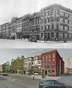broadway and hudson ave, then and now, albany ny 1930s and 2013. (Al Quaglieri)
