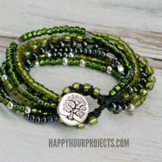 DIY Tutorial DIY Bracelet / DIY Beaded Button Clasp Bracelet - Bead&Cord