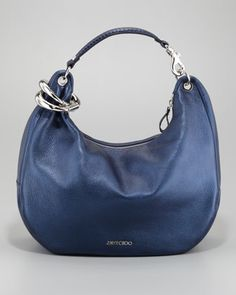 Solar Metallic Hobo Bag, Navy by Jimmy Choo at Neiman Marcus.