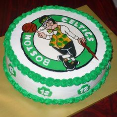 Boston Celtics cake I made for a sweet kid :). Created by Twisted Sister Cakes....www.twistedsistercakes.com