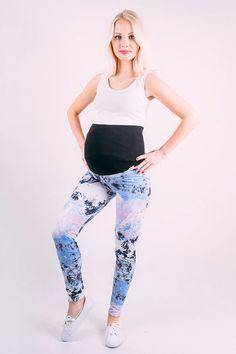 Modré těhotenské legíny na cvičení Pants, Fashion, Trouser Pants, Moda, Fashion Styles, Women's Pants, Women Pants, Fashion Illustrations, Trousers