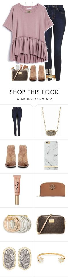 """""""ugh I'm so sunburnt"""" by hmcdaniel01 ❤ liked on Polyvore featuring Topshop, Kendra Scott, H by Hudson, Tory Burch, Odeme, MICHAEL Michael Kors and Lizzie Fortunato"""