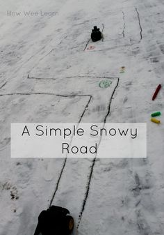 This simple winter play is great for HOURS of imaginative fun. A great snow activity for preschoolers!