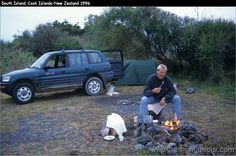 Discovering New Zealand: campsite South Island 1996