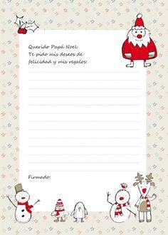 Partty - Fiestas temáticas y decoración para fiestas: Carta para Papá Noel
