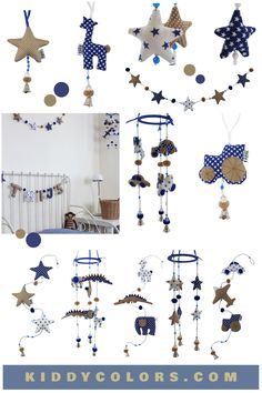 Trendy kidsroom accessories for a boy. Fairly handmade in Thailand.