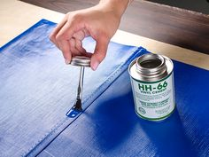 Use HH-66 to keep water out of seams sewn in vinyl