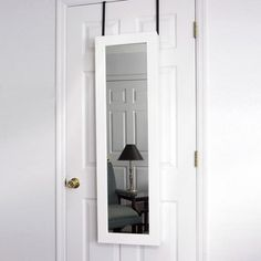 "Fab.com Pop-Up Shop: Door Armoire 48"" White Jewelry organizer inside"