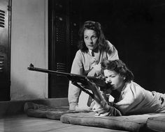 Training in marksmanship helps girls at Roosevelt High School in Los Angeles, Calif., develop into responsible women. Part of Victory Corps activities there, rifle practice encourages girls to be accurate in handling firearms, August 1942 Shorpy Historical Photos, Historical Pictures, Roosevelt High School, Roosevelt Family, Armada, Thats The Way, Interesting History, High Resolution Photos, Women In History
