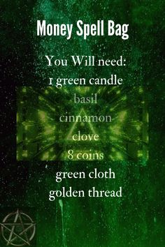 Moon Quotes Discover Money Spell Bag Carry this bag with you to attract more money. Good Luck Spells, Easy Love Spells, Wiccan Spell Book, Witch Spell, Magick Spells, Witchcraft, Money Spells That Work, Powerful Money Spells, Prosperity Spell