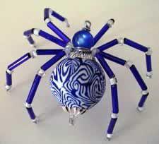 Blue Christmas Spider