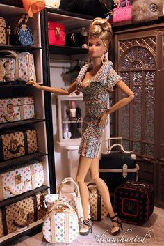 If I knew then what I know how, this is how my Barbie would've looked when I was a kid - Barbie as a Louis Vuitton hoarder (BB)