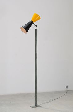 Le Corbusier; Enameled Metal 'LC VII' Floor Lamp from Chandigarh, c1963.