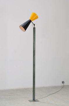Le Corbusier; Enameled Metal 'LC VII' Floor Lamp from Chandigarh, c1963.