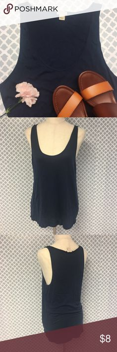 J. Crew Factory Basic Tank Description: J Crew Factory Navy Tank Top High Low Blouse Women's Size Large  🔘Condition: Very Good    🔘Material: 55% Cotton 45% Modal  🔘Measurements:       Pit to Pit – 18.5 inches       Shoulder to Hem – 28 inches     ⭐️ 15% Off All Bundles! 🛍    💞Thanks for stopping by! 😘 J. Crew Factory Tops Tank Tops