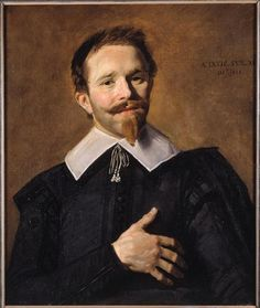 Man with his Hand on his Heart -  Frans Hals (attributed to) /  Bordeaux, musée des Beaux-Arts