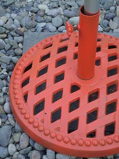 Give the umbrella stand a pop of color