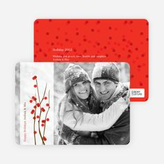 Holiday Berries Christmas Cards by Paper Culture
