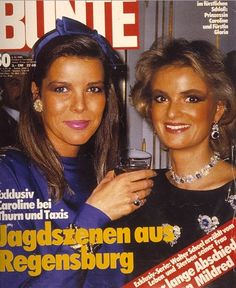 Princess Caroline of Monaco and Furstin Gloria von Thurn und Taxis