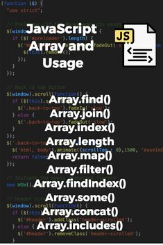 Javascript array cannot use a string as an index of elements. This must be an integer value and always zero indexed and starts with zero indexes. Computer Programming Languages, Computer Coding, Learn Programming, Learn Coding, Learn Html, Learn To Code, Java Cheat Sheet, Java Script, Design Web