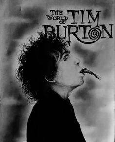 Tim Burton, my favorite artist. Made with color pencils and charcoal .