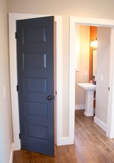 Dirty Facts About Diy Pantry Door Exposed 301 Diy Interior, Interior Barn Doors, Interior Design, Painted Pantry Doors, Painted Doors, Laundry Room Doors, Apartment Door, Traditional Interior, Blue Walls