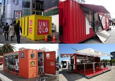 Container Shops Shipping Container Office, Shipping Container Buildings, Used Shipping Containers, Container Van, Sea Container Homes, Container House Design, Pop Up Stores, Container Restaurant, Sea Containers