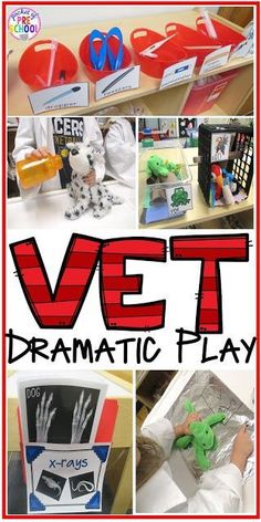 Vet Pet Hospital Dramatic Play for preschool, pre-k, and kindergarten. Tips, tricks, and fun ideas for your classroom.