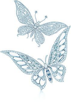 {Spring Flings and Sparkly Wings} Tiffany butterfly brooches with diamonds Butterfly Pin, Butterfly Jewelry, Insect Jewelry, Butterfly Pendant, Tiffany And Co Jewelry, Butterfly Wallpaper, All That Glitters, Animal Jewelry, Beautiful Butterflies