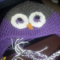 Owl beanie handmade by me