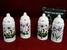66) Portmeirion Botanic Gardens salt & pepper shakers BNIB and a similar set unboxed (2) Est. £10-£15