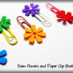 Foam and Paper Clip Bookmarks – DIY