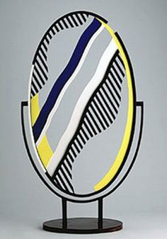 """Lichtenstein was particularly fascinated by the abstract way in which cartoonists drew mirrors, using diagonal lines to denote a reflective surface. He once remarked, """"Now, you see those lines and you know it means 'mirror,' even though there are obviously no such lines in reality. It's a convention that we unconsciously accept."""" The mirror was a recurring leitmotif for Lichtenstein during the 1970s, but the artist had experimented with the graphic representation of reflection in earlier…"""