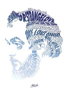Stanley #Kubrick, graphic illustration and portrait #typography