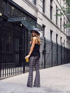 patterned palazzo pants