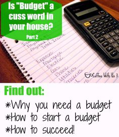 Stop seeing budgeting as a cuss word, and take control of your finances!
