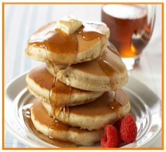 Cinnamon pancakes with maple syrup - healthy, gluten-free & low FODMAP