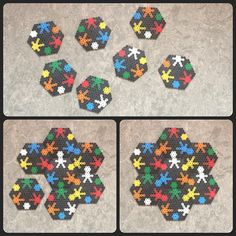 Puzzle coaster set hama perler beads by pysselpysselpyssel