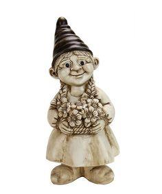 Look at this #zulilyfind! Whitewash Flower & Garden Gnome #zulilyfinds