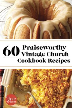 60 Praiseworthy Vintage Church Cookbook Recipes is part of Recipes - Make your next church event extraspecial with one of these vintage recipes that has withstood the test of time! Amish Recipes, Old Recipes, Cookbook Recipes, Southern Recipes, Cooking Recipes, Church Potluck Recipes, Potluck Dishes, Retro Recipes, Vintage Recipes