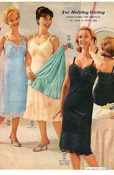vintage lingerie Vintage Underwear, Vintage Lingerie, Women Lingerie, Full Length Slip, Lingerie Catalog, Gorgeous Lingerie, Corner Wall, Petticoats, Satin Slip