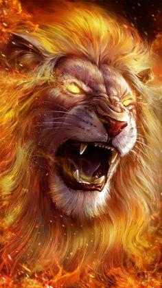Lion Wallpaper Iphone, Lion Live Wallpaper, Wild Animal Wallpaper, Live Wallpapers, Wallpaper Backgrounds, Iphone Wallpapers, Tiger Spirit Animal, Fire Lion, Lions Live