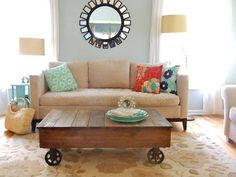 Coffee Table - Factory Cart Coffee Table