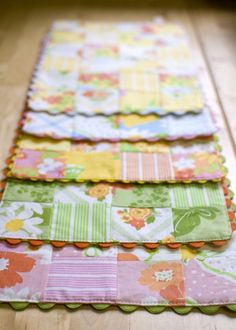 Charm square placemats.