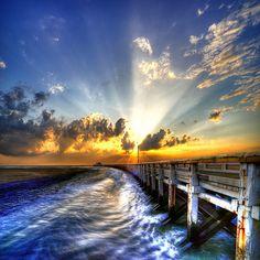 sun on the dock