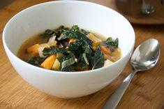 Vegan Kale & Roasted Vegetable Soup-