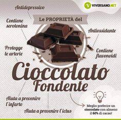 Cioccolato fondente - benefici +¡☆_ Let's for♡😍_ Wellness Fitness, Health And Wellness, Health Fitness, Healthy Tips, Healthy Recipes, Healthy Foods, Diabetes Information, Sports Food, In Natura